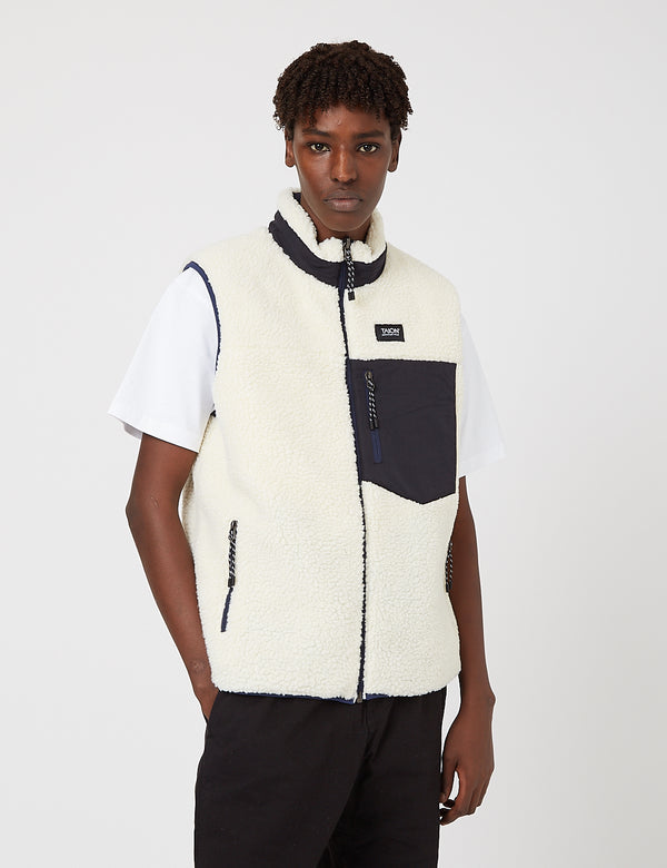 Taion Down x Boa Reversible Vest - Navy/Ivory