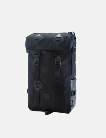 Topo Designs Klettersack Bag (Black Leather) - Ballistic Black