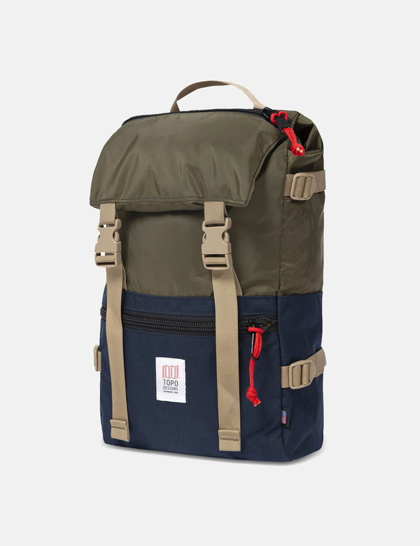 Topo Designs Rover Pack - OliveGreen /Navy Blue