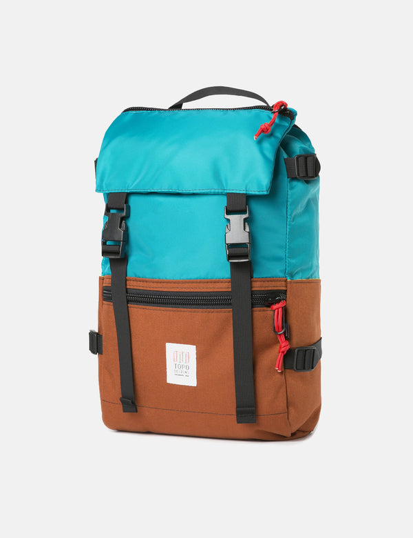 Topo Designs Rover Pack - Turquoise Blue/Clay