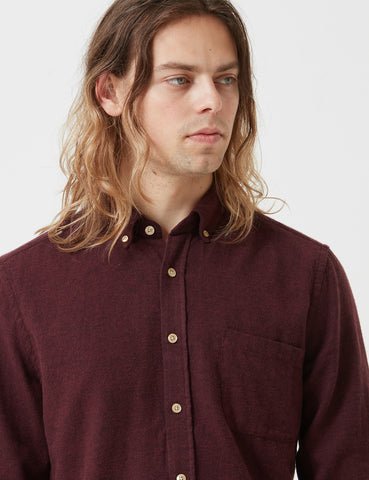 Portuguese Flannel Teca Shirt - Bordaeux