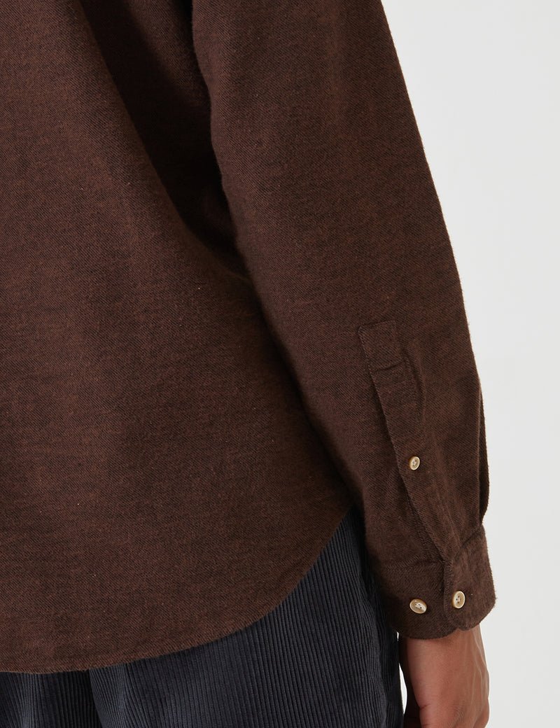Portuguese Flannel Teca Shirt - Brown