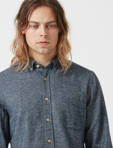 Portuguese Flannel Teca Shirt - Grayed Blue