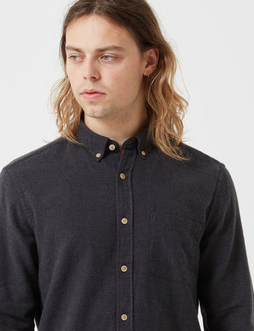 Portuguese Flannel Teca Shirt - Charcoal Grey