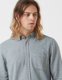 Portuguese Flannel Teca Shirt - Light Grey