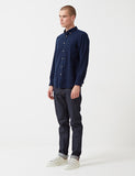 Portuguese Flannel Teca Shirt - Navy Blue