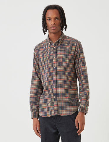Portuguese Flannel Twill Shirt - Blue