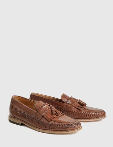 Hudson Zair Leather Loafer - Cognac Brown