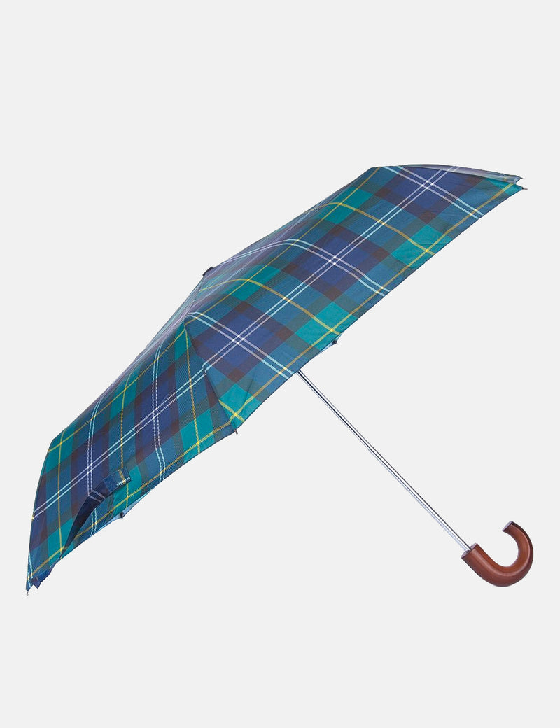 Barbour Tartan Mini Umbrella - Green