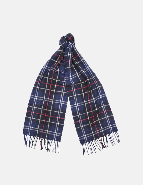 Barbour Tartan Lambswool Scarf - Navy Blue/Red