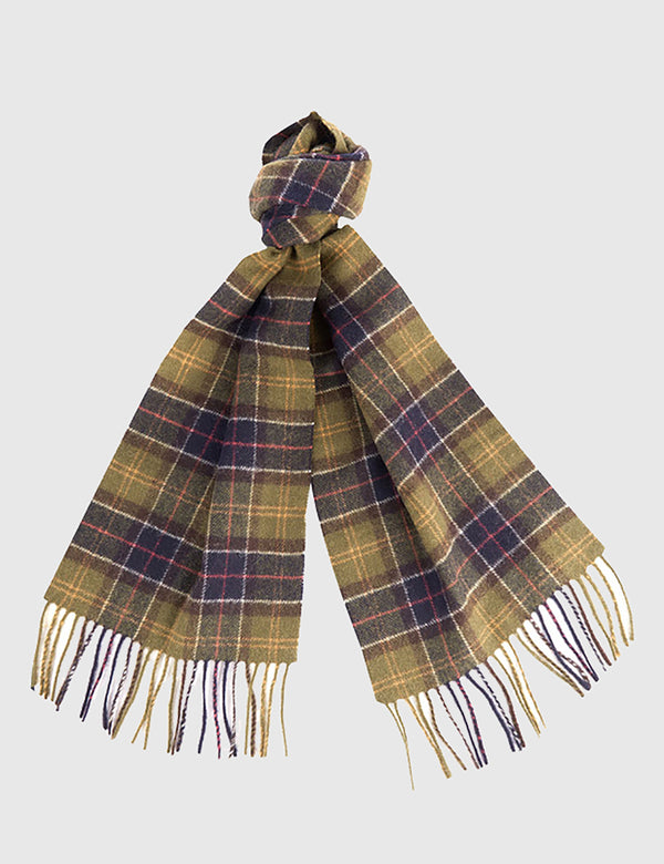 Barbour Tartan Lambswool Scarf - Yellow