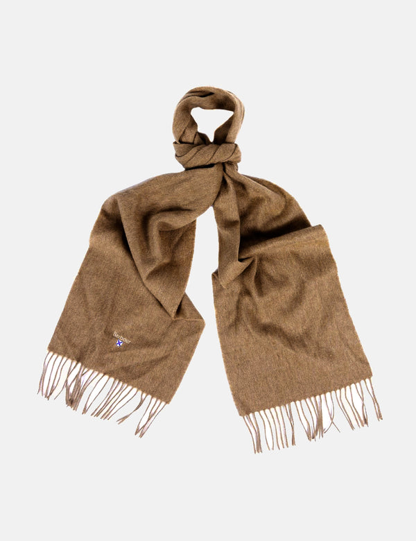 Barbour Plain Lambswool Scarf - Fossil Beige