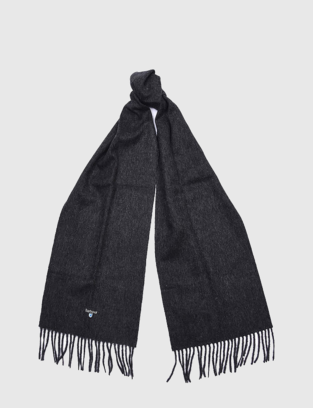 Barbour Plain Lambswool Scarf - Charcoal Grey