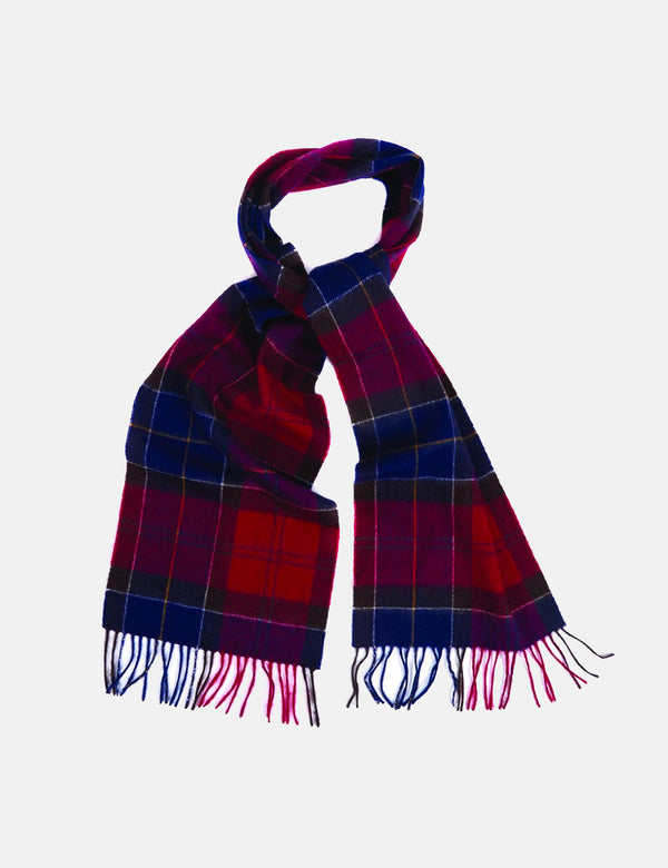 Barbour Holden Tartan Scarf (Lambswool/Cashmere) - Red Tartan