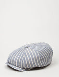 Stetson Hatteras Stripe Newsboy Cap (Linen) - Light Blue