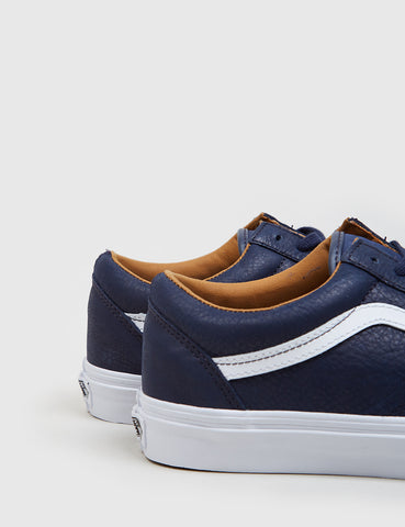 Vans Old Skool (Leather) - Navy Blue