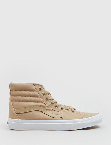 Vans SK8-Hi Trainers (Mono Canvas) - Khaki/True
