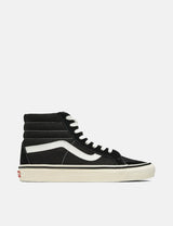 Vans SK8-Hi 38 DX (Leather) - Anaheim Factory Black/True White