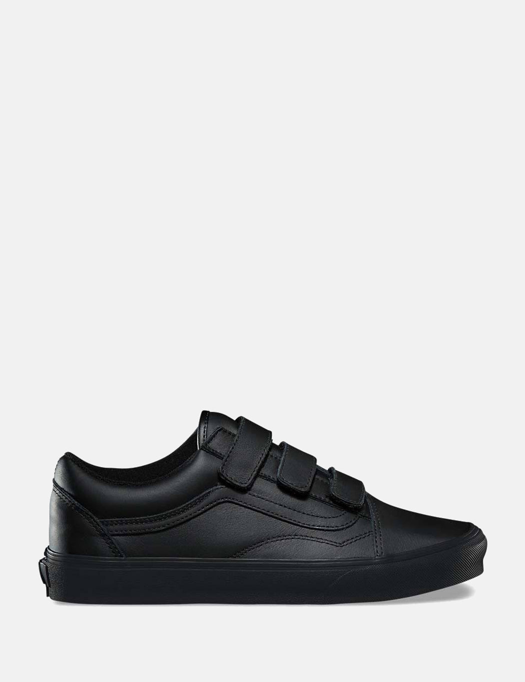 bc26b69811a727 Vans Old Skool Velcro (Mono Leather) - Black