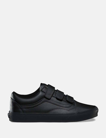 Vans Old Skool Velcro (Mono Leather) - Black