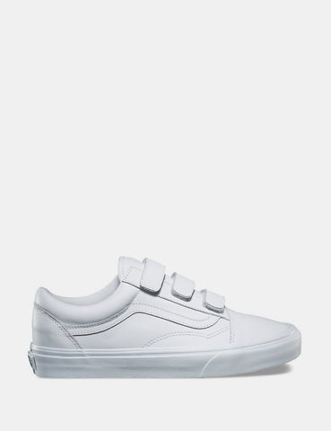 27c0ea3115a Vans Old Skool Velcro (Mono Leather) - True White ...