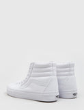 Vans SK8-Hi Trainers (Canvas) - True White
