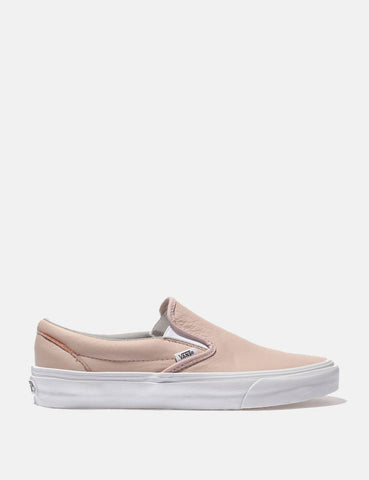 Vans Classic Slip-On (Leather) - Oxford/Evening Pink