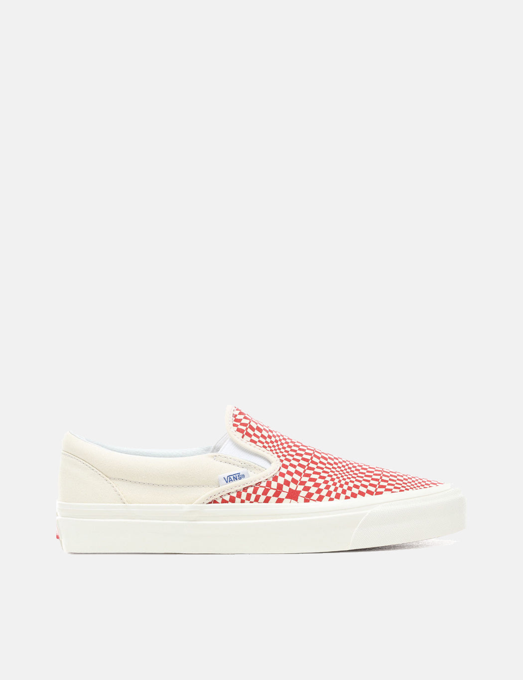 1bed7cb370 Vans Classic Slip-On 98 DX (Canvas) in Anaheim Factory OG Red White Warp  Check