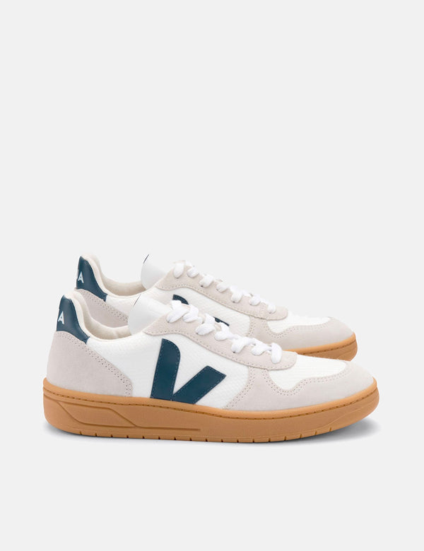 Veja V-10 B-Mesh Trainers - White/California/Natural