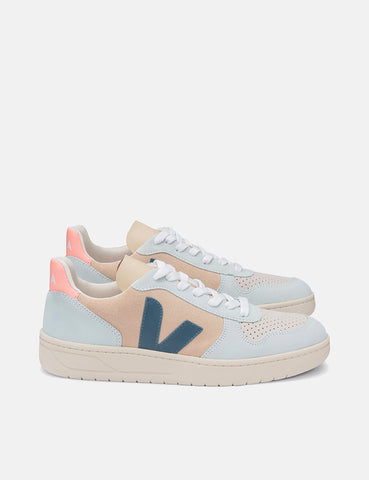 Womens Veja V-10 Suede Trainers - Multicolour/Almond/California