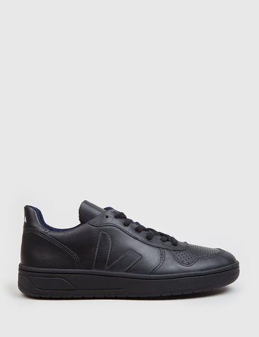 Veja V-10 Leather Trainers - Black
