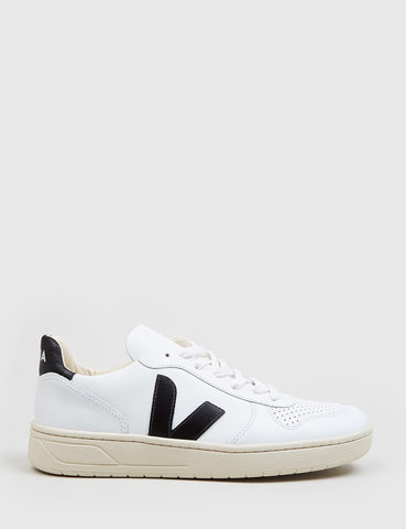 Veja V-10 Leather Trainers - Extra White/Black