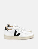 Veja V-10 Trainers - Leather White/Black