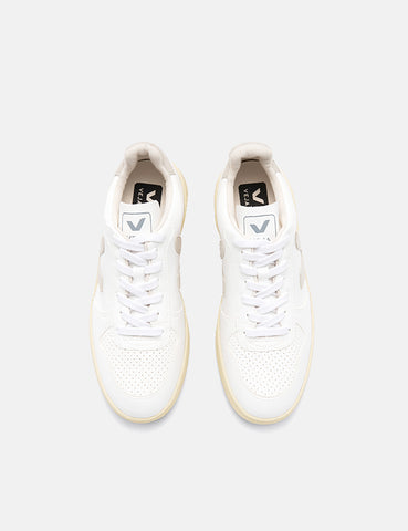 Veja V-10 Leather Trainers (CWL) - White/Natural/Butter Sole