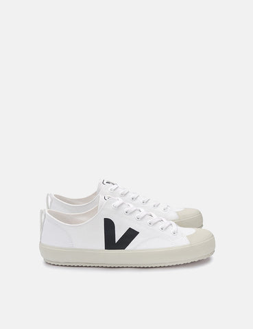 Womens Veja Nova Canvas Trainers - White/Black