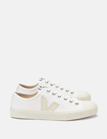 Veja Wata Vegan Canvas Trainers - White/Pierre