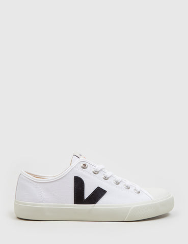 Veja Wata Canvas Trainers - White/Black
