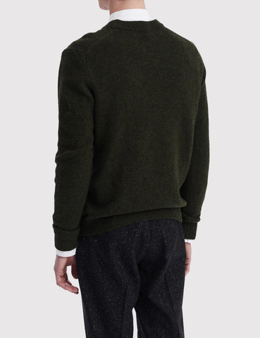 Wood Wood Yale Knit Jumper - Jet Green