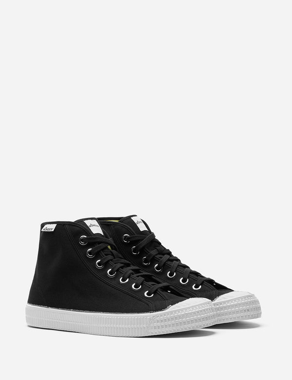 Novesta Star Dribble Hi Trainers (Canvas) - Black