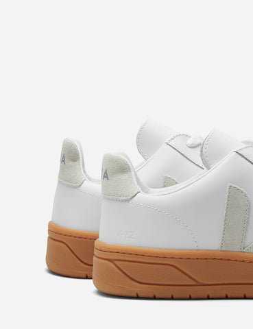 Veja V-12 Leather Trainers - Extra White/Natural Sole