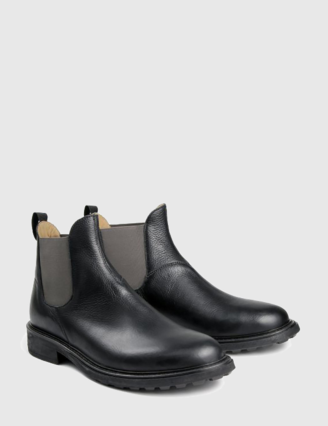 Hudson Caslon Chelsea Boots (Leather) - Black