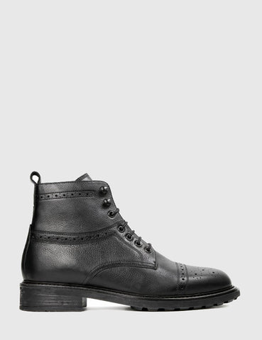 Hudson Fernie Ankle Boots (Leather) - Black