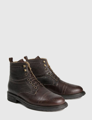 Hudson Fernie Ankle Boots (Leather) - Brown