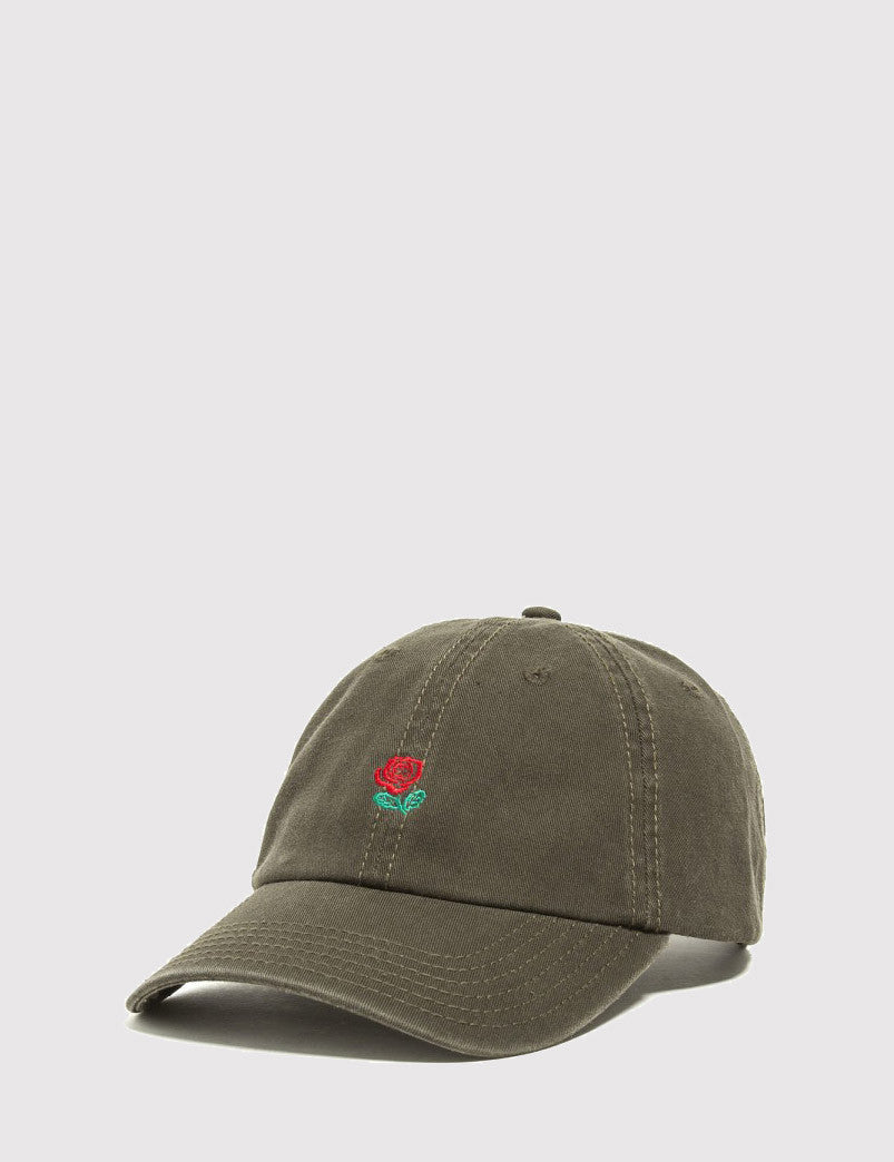 The Hundreds The Rose 6-Panel Cap - Olive Green
