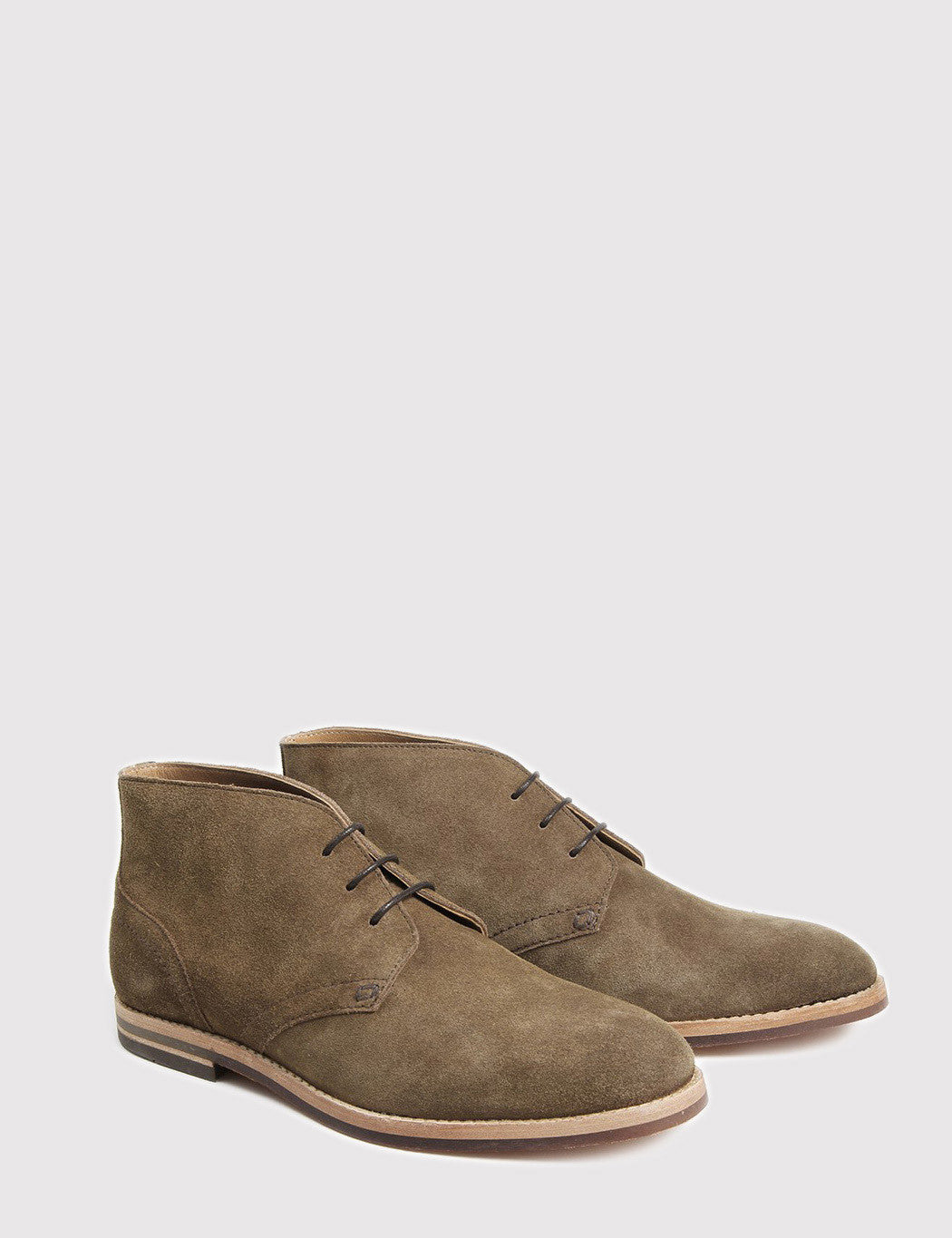Hudson Houghton 3 Suede Boots - Tobacco