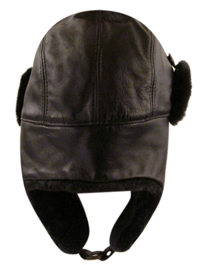 Bailey Vega Fur Leather Trapper Hat - Black