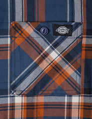 Dickies Atwood Check Shirt - Air Force Blue
