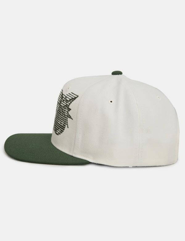 The Hundreds Blinds Snapback Cap - Green/Cream