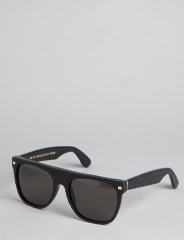 Super Flat Top Goffrato Sunglasses - Black