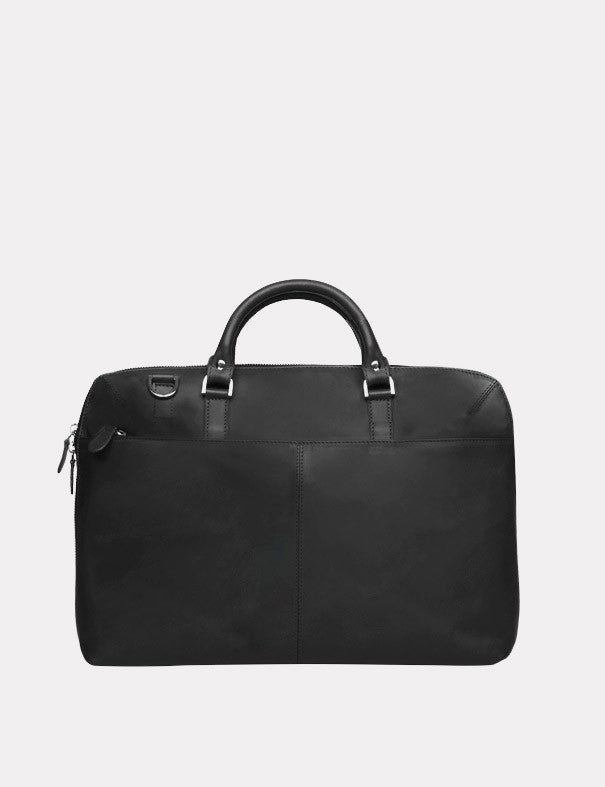 Sandqvist Dustin Leather Laptop Bag - Black